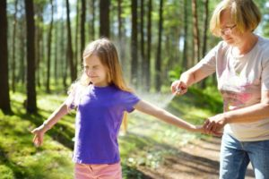 Protect child from mosquitos